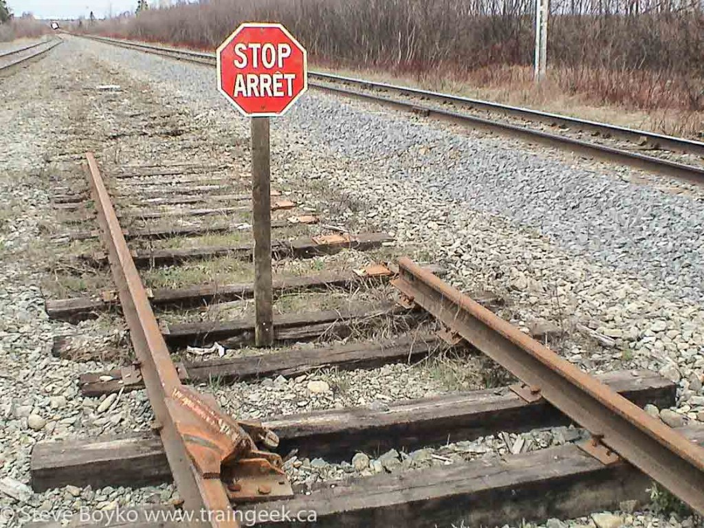 Derail and Stop Sign, Nepisiguit Junction, NB