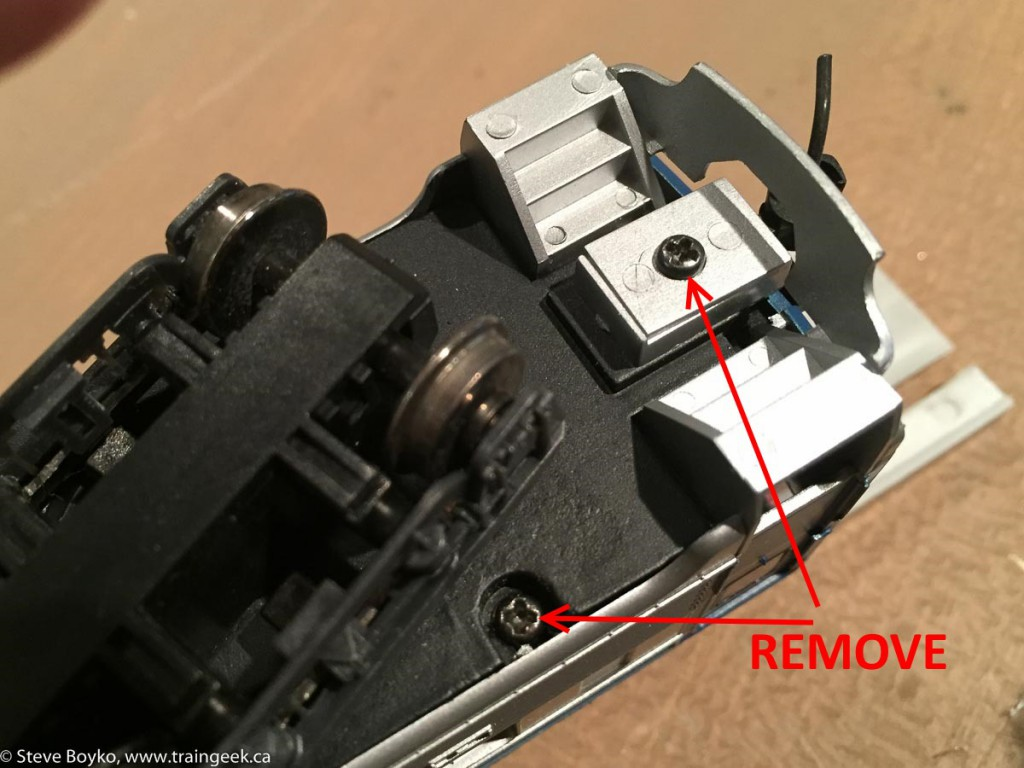 Screws to remove