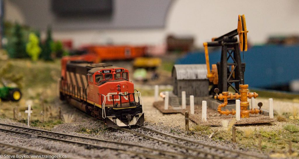 I really liked the detail on the locomotive and the pump jack.