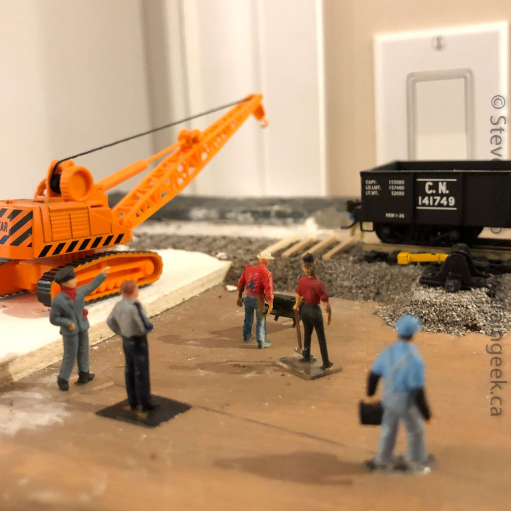 The rail removal crew, hard at work